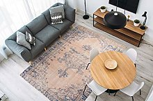 One Couture Vintage Carpet Beige Blue Oriental