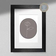 One Line Flower - Wall Art   Flower Art   Plant