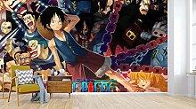 ONE Piece 3D Self Wallpaper Mural Hand-Painted