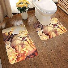 One Piece Soft Flannel Floor Mats Carpets Non-slip