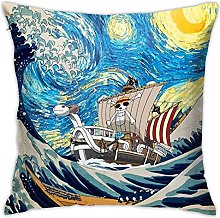 One Piece Square Pillowcase Soft Plush Living Room