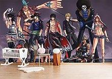 ONE Piece Wallpaper 3D Cartoon Background Wall