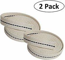 ONEEW Lamp Wicks, 2 pack Kerosene wick Flat Cotton