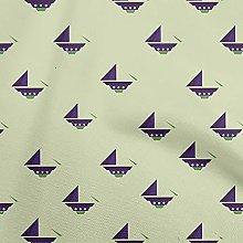 oneOone Cotton Flex Beige Fabric Nautical Nautical