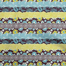 oneOone Cotton Flex Brown Fabric Floral Patchwork