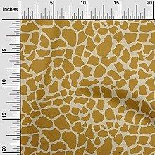oneOone Cotton Flex Dark Mustard Fabric Giraffe