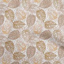 oneOone Cotton Flex Dark Mustard Fabric Leaves
