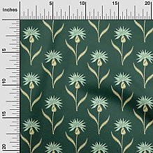 oneOone Cotton Flex Fabric Leaves & Floral