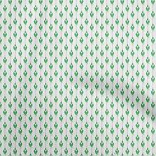 oneOone Cotton Flex Sea Green Fabric Ikat Ikat
