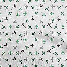 oneOone Cotton Flex Sea Green Fabric Travel Travel