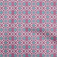 oneOone Cotton Flex Violet Blue Fabric Mosaic