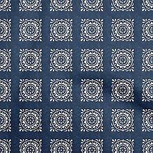 oneOone Georgette Viscose Medium Blue Fabric Block