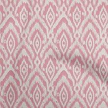 oneOone Georgette Viscose Medium Pink Fabric Ikat