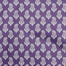 oneOone Georgette Viscose Medium Purple Fabric
