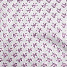 oneOone Georgette Viscose Pink Fabric Cactus Tree