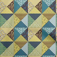 oneOone Georgette Viscose Yellow Fabric Quilt