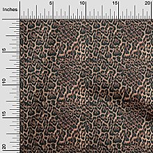 oneOone Rayon Brown Fabric Animal Skin Quilting