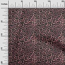 oneOone Rayon Light Pink Fabric Animal Skin Fabric