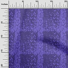 oneOone Silk Tabby Dark Purple Fabric Animal Skin