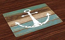onepicebest Anchor Place Mats Set of 6, Grunge