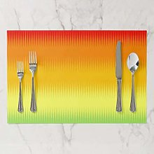 onepicebest Placemat, Red Orange Yellow Green