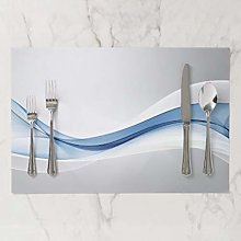 onepicebest Placemats, Heat-Resistant Blue Wave