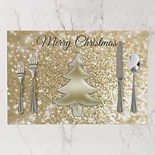 onepicebest Placemats, Washable Gold Elegant
