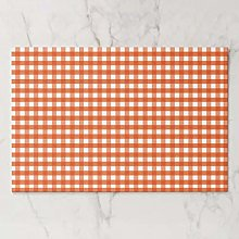 onepicebest Placemats, Washable Orange And White