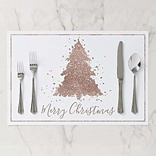 onepicebest Placemats, Washable Tree Glam Copper