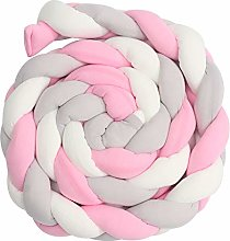 ONEVER Crib Bumper Braid Pillow Baby bed Fence