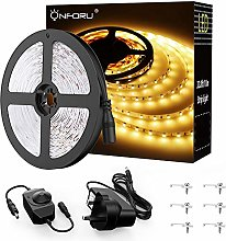 Onforu Warm Whit LED Strip Lights 10M, Dimmable