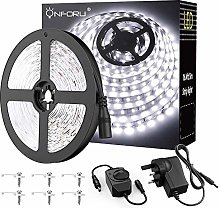 Onforu White LED Strip Lights 5M Kit, Dimmable