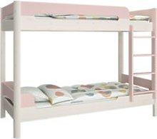 Oniria Wooden Bunk Bed In Whitewash Pink