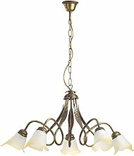 ONLI Chandelier 5 Lights Bronze Double Turn