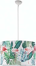 ONLI - Hanging lamp Flamingo with Fabric Shade