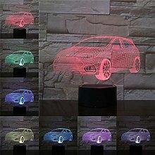 Only 1 3D Led Night Light Sedan 3D Lamp Creative