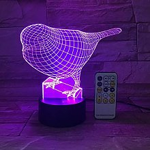 Only 1 Cute Bird Night Light 3D USB Touch Switch