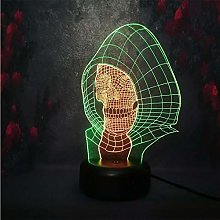 Only 1 ns Halloween Gift Lamp 3D LED Creative Head