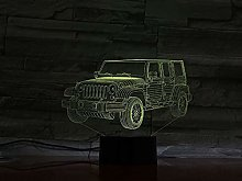Only 1 pcs 3D Lamp Off-Road Sports car Operated