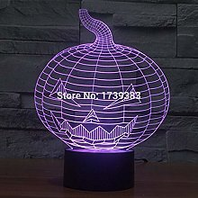 Only 1 pcs 7 Multi Color Changing Halloween Evil