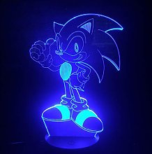 Only 1 pcs Game Sonic The Hedgehog Kids LED Night