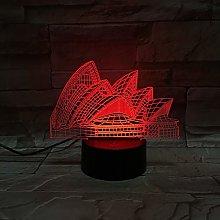 Only 1 pcs Sydney Opera House 3D Lamp Multi-Color