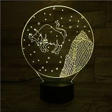 Only 1 pcs Western Zodiac Signs Night Light LED