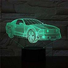 Only 1 Piece 3D Car 3D LED Night Lamp Romantic