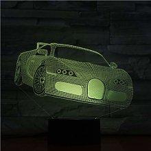 Only 1 Piece 3D Dimension Lamp Sports Car