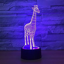 Only 1 Piece 3D Lamp Giraffe Led Night Lamps for