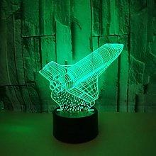 Only 1 Piece 3D Lamp Seven Colors Remote Control