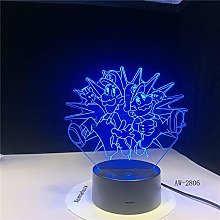 Only 1 Piece 3D Lamp USB Acrylic Super Gift for n
