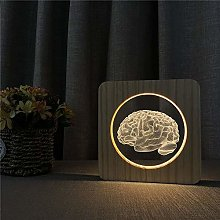Only 1 Piece 3D LED Acrylic Night Light Table lamp