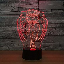 Only 1 Piece 3D LED Lamp Night Lamp for Kids Touch